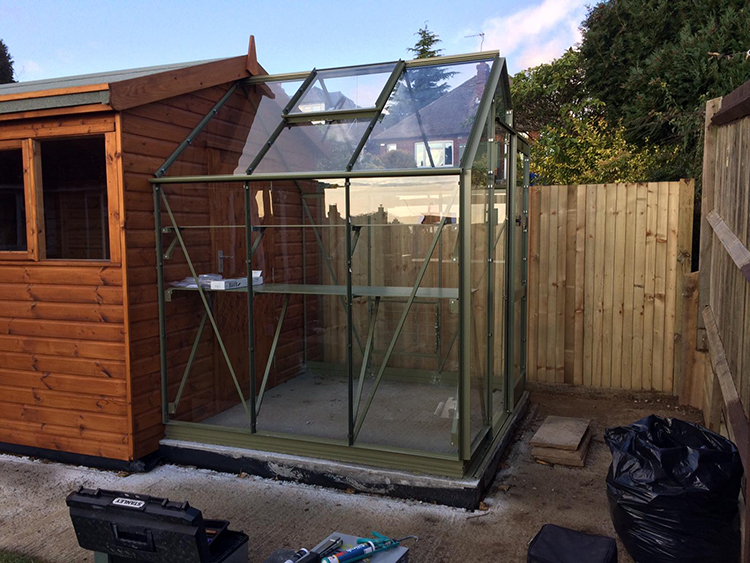 "<p id=""boldtitle"">Heavy duty Workshop</p>Heavy Duty Workshop made for greenhouse to fit onto."