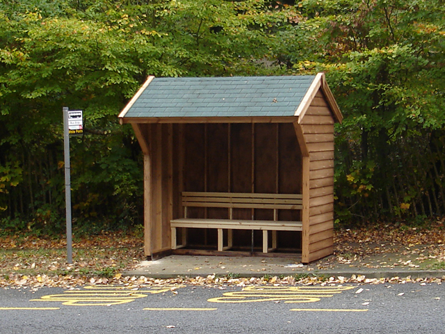"<p id=""boldtitle"">Bespoke Bus Shelter</p>Bespoke gable bus shelter.<br/>"