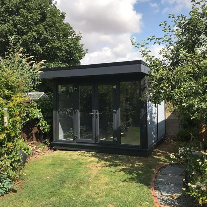 "<p id=""boldtitle"">Ex Display</p>10' x 10' Composite Garden Room<br/>similar to photo above.<br/>£ 10,500.00 or will accept sensible offers.<br/>On display at our Pembury site."