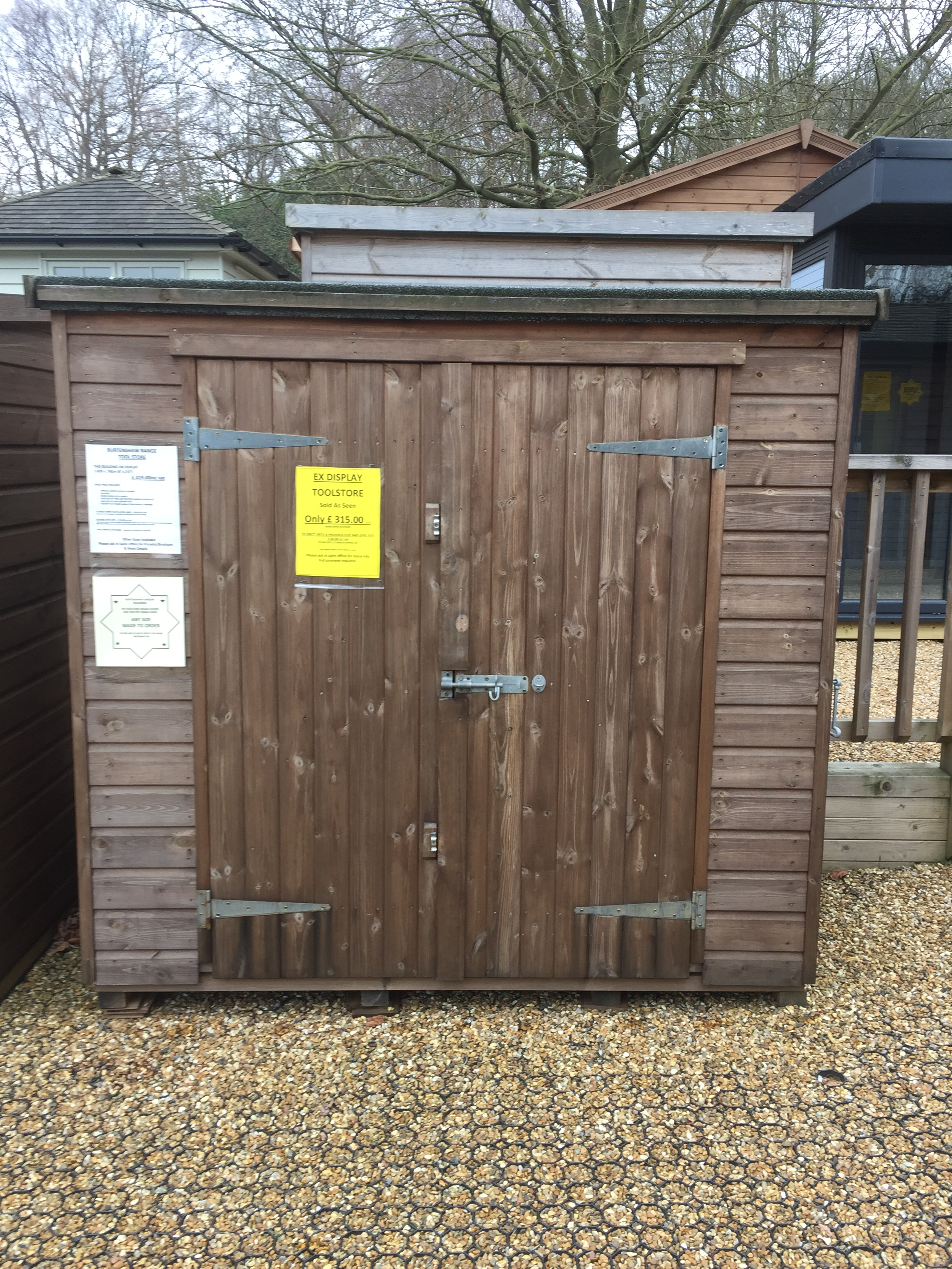 "<p id=""boldtitle"">Ex Display</p>6 x 2'6 Toolstore for sale £ 315.00<br/>At our display site within Notcutts at Pembury"
